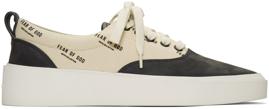 Fear Of God Sneakers Black & Off-White Logo 101 Lace-Up Sneakers