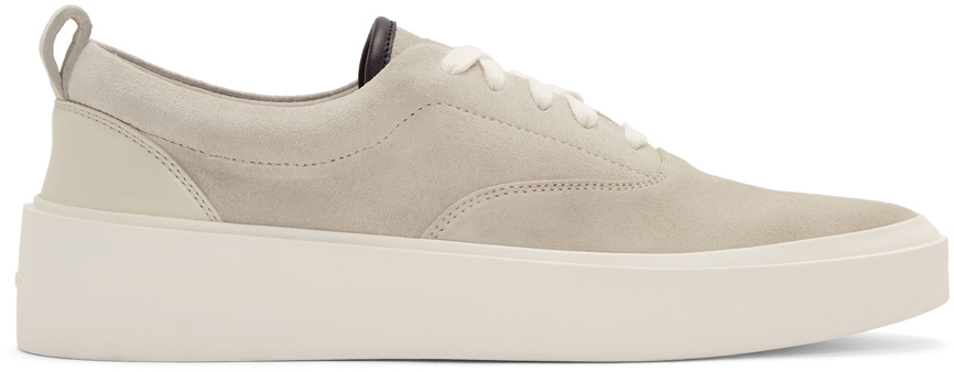 Fear Of God Sneakers Grey Suede 101 Lace-Up Sneakers