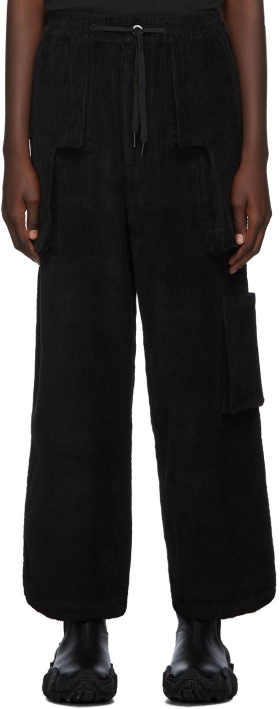 Perks And Mini Pants Black B.T.C Return Corduroy Trousers