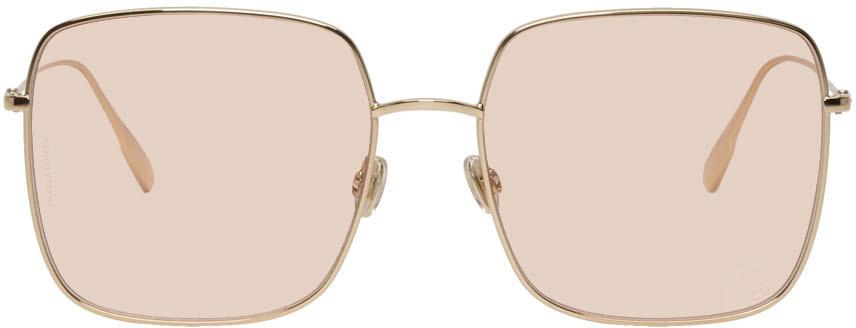 Dior Sunglasses Gold & Pink DiorStellaire1 Sunglasses