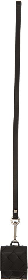 Bottega Veneta Cases Black Intrecciato Airpods Case