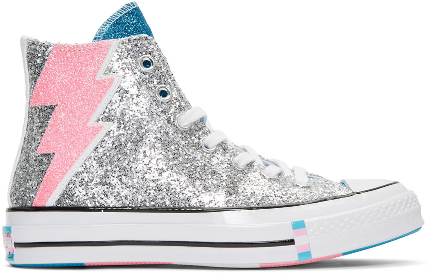 Converse Sneakers Silver Chuck 70 Pride High Sneakers