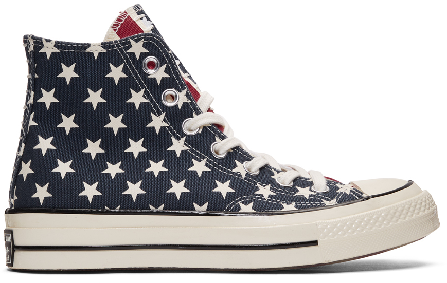 Converse Sneakers White & Red Chuck 70 Archive Restructured High Top Sneakers