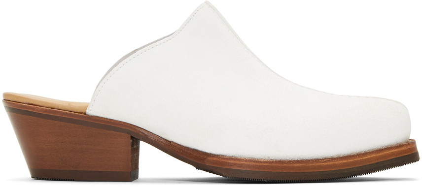 Our Legacy Loafers White Mule Slip-On Loafers