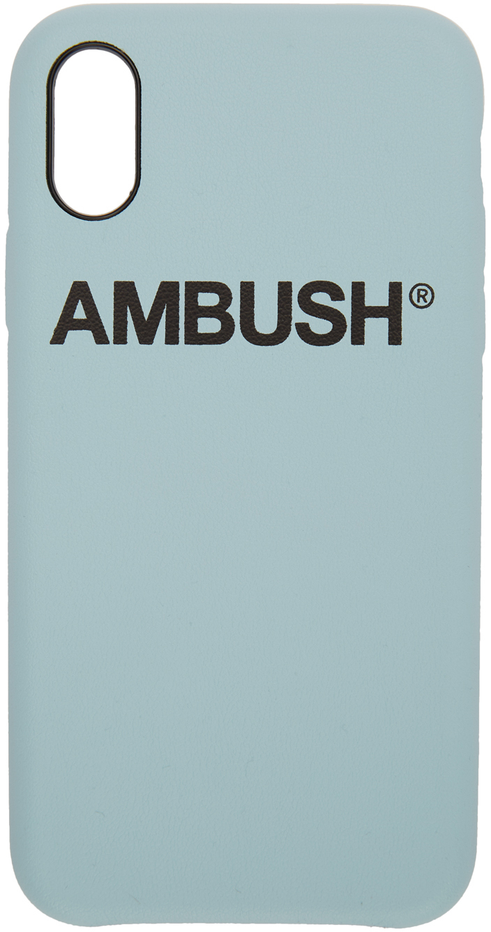 Ambush Cases SSENSE Exclusive Blue Logo iPhone X Case
