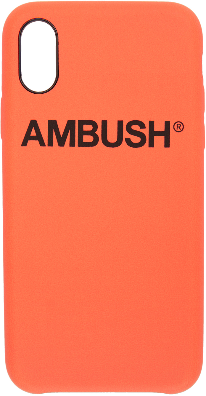 Ambush Cases Orange Logo iPhone X Case