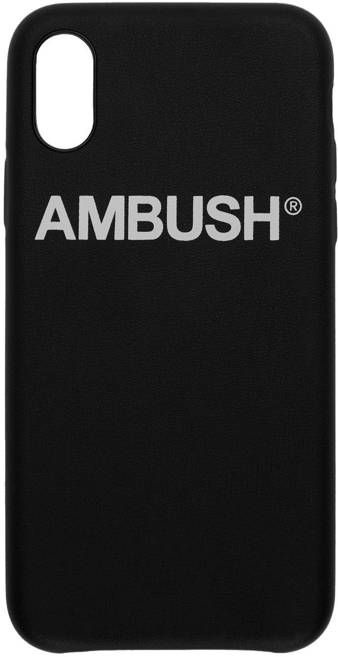 Ambush Cases Black Logo iPhone X Case