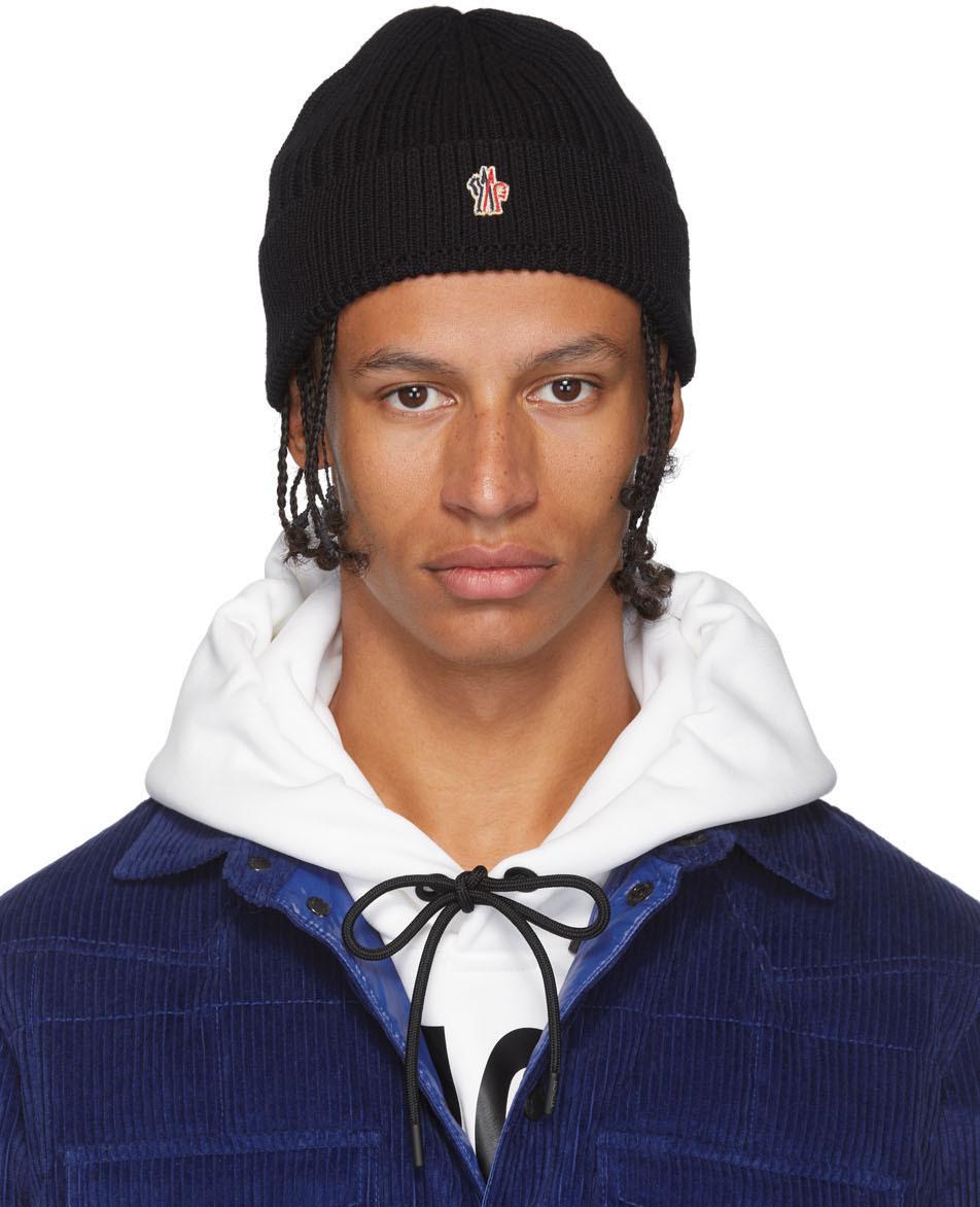 Moncler Grenoble Black Knit Beanie