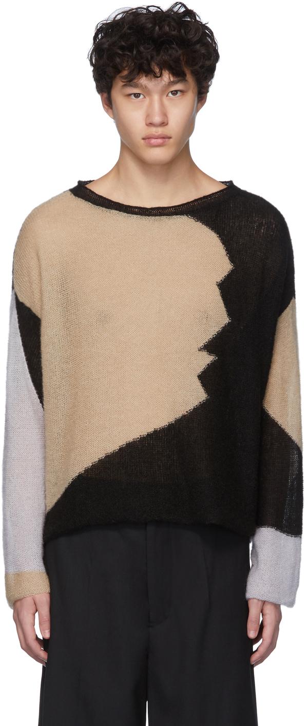 Eckhaus Latta Sweaters Black & Grey Landscape Sweater