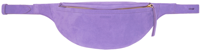 Nanushka Belt Purple Suede Lubo Belt Bag