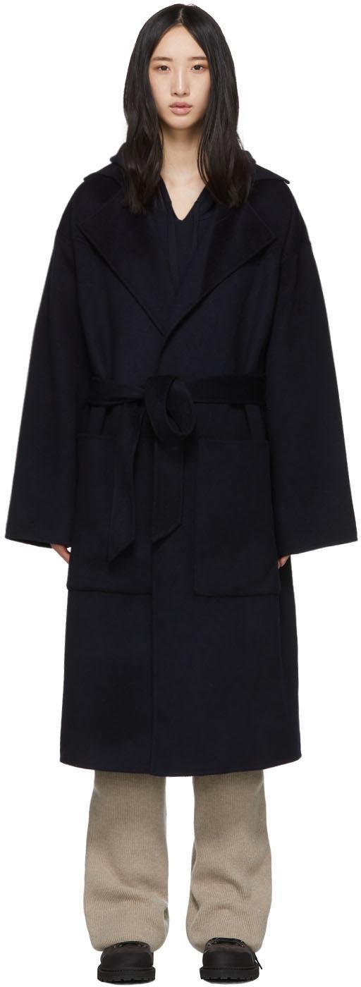 Nanushka Coats Navy Timo Coat