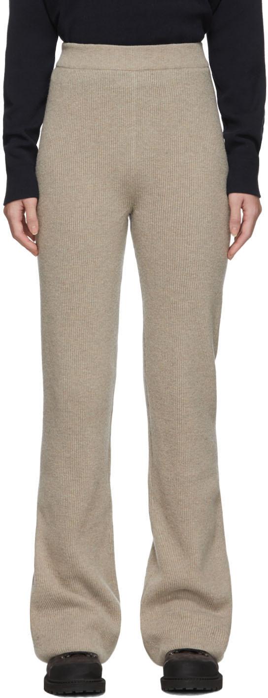Nanushka Pants Beige Leba Lounge Pants