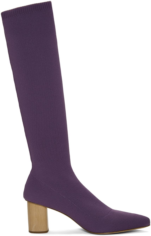 Nanushka Knits Purple Juli Knit Boots