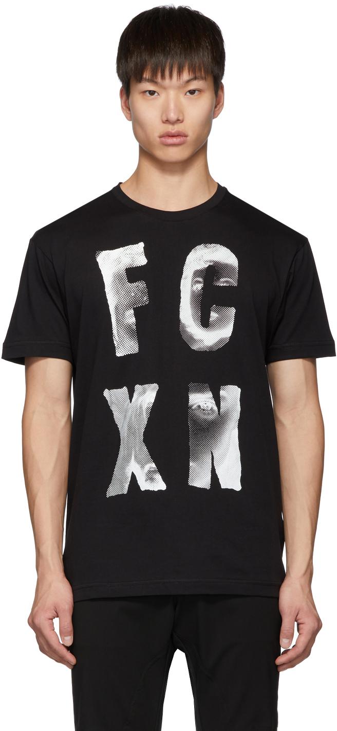 Faith Connexion T-shirts Black 'FCXN' T-Shirt