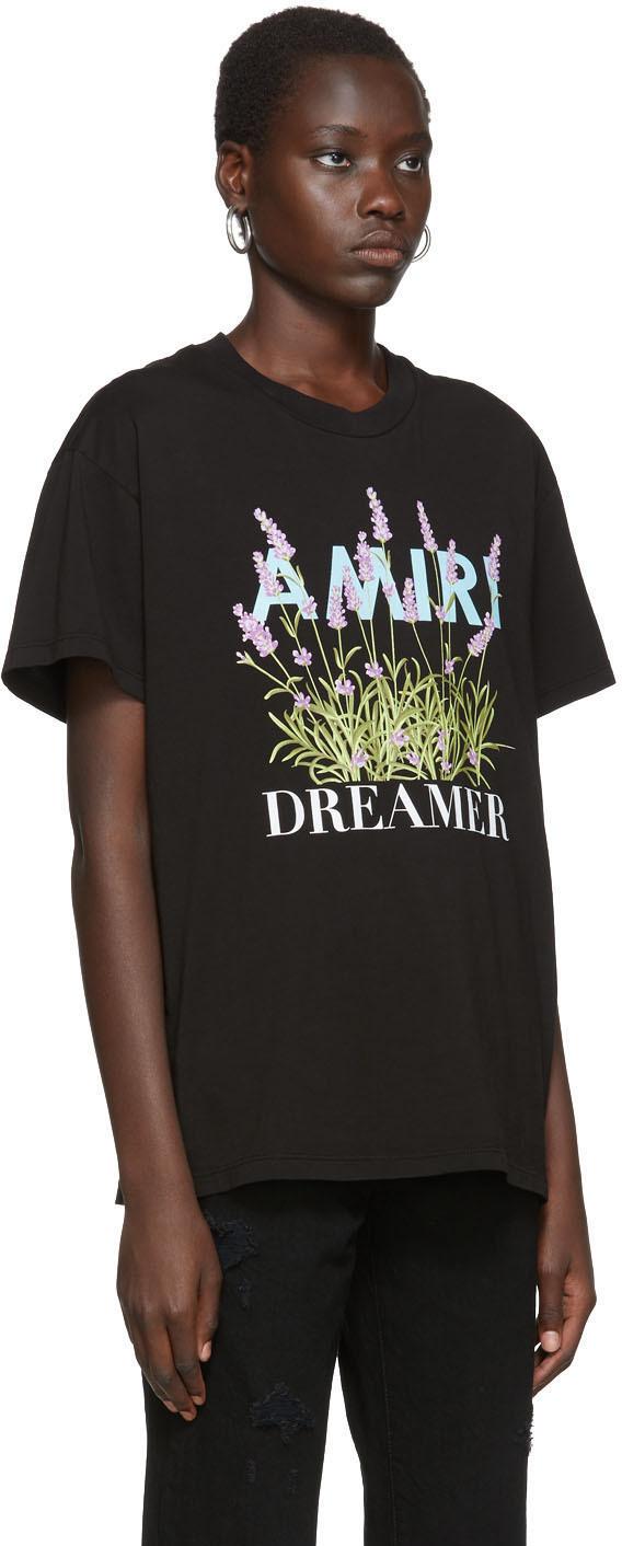 Amiri T-shirts Black Flower Dreamer T-Shirt
