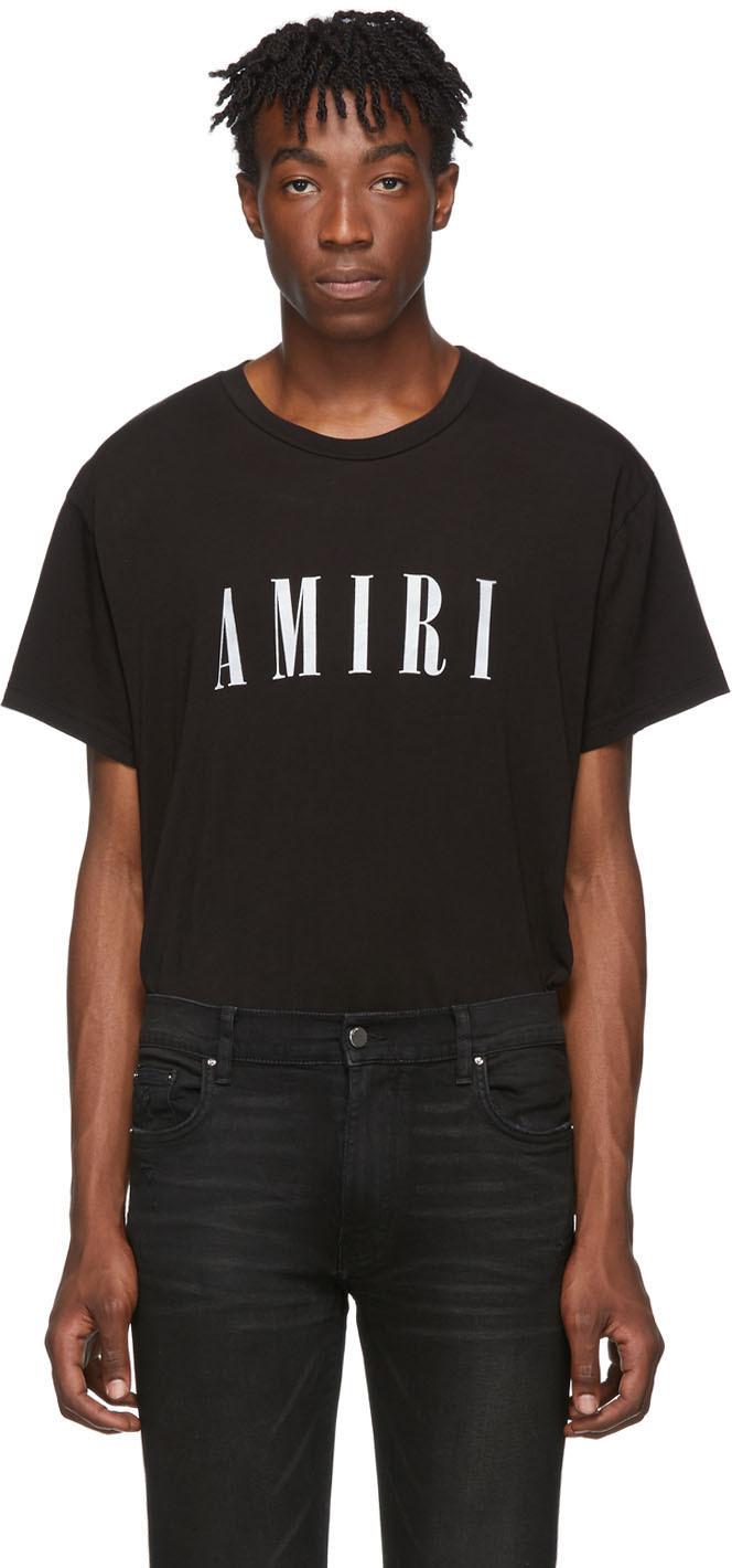 Amiri T-shirts Black & White Logo Core T-Shirt