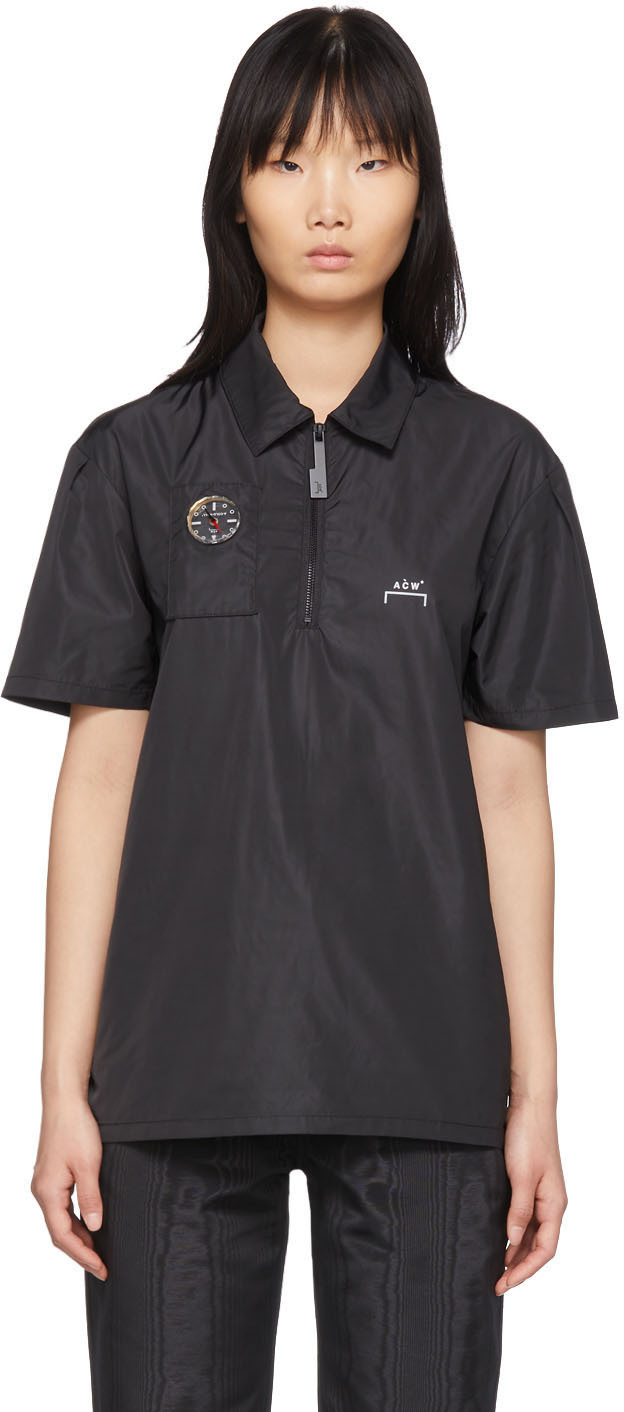 A-Cold-Wall* Accessories Black Compass Side Snap Polo