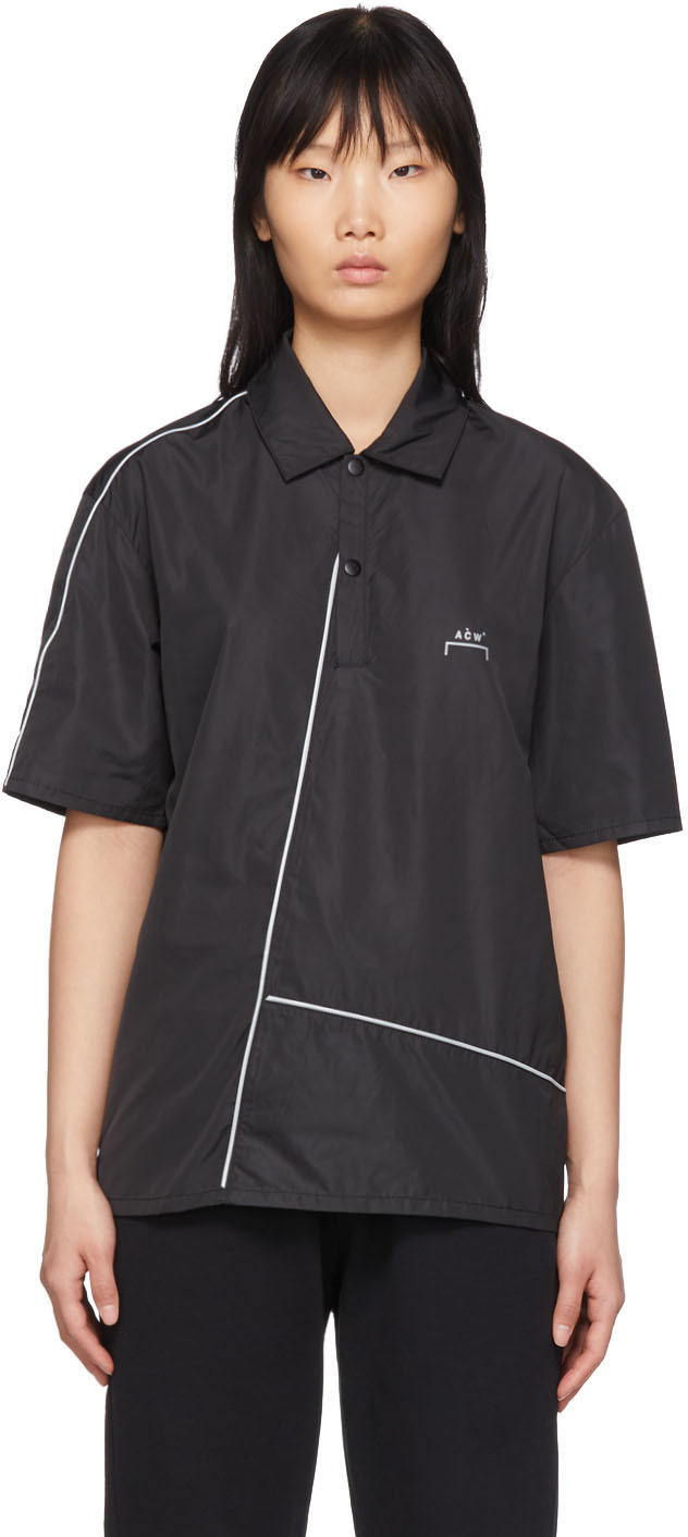 A-Cold-Wall* Black Piping Polo
