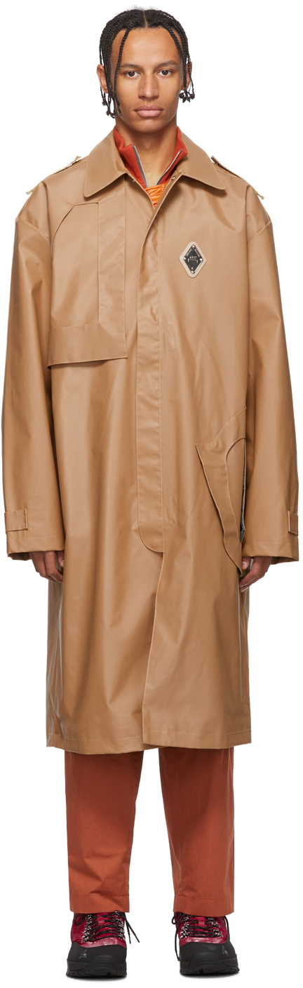 A-Cold-Wall* Coats Beige Design Lined Mac Trench Coat