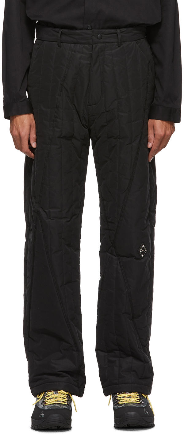 A-Cold-Wall* Pants Black Quilted Puffer Trousers