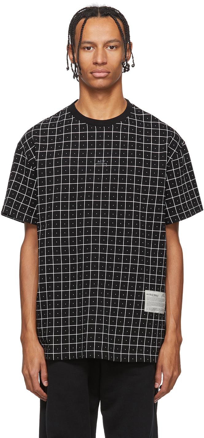 A-Cold-Wall* T-shirts Black Grid T-Shirt