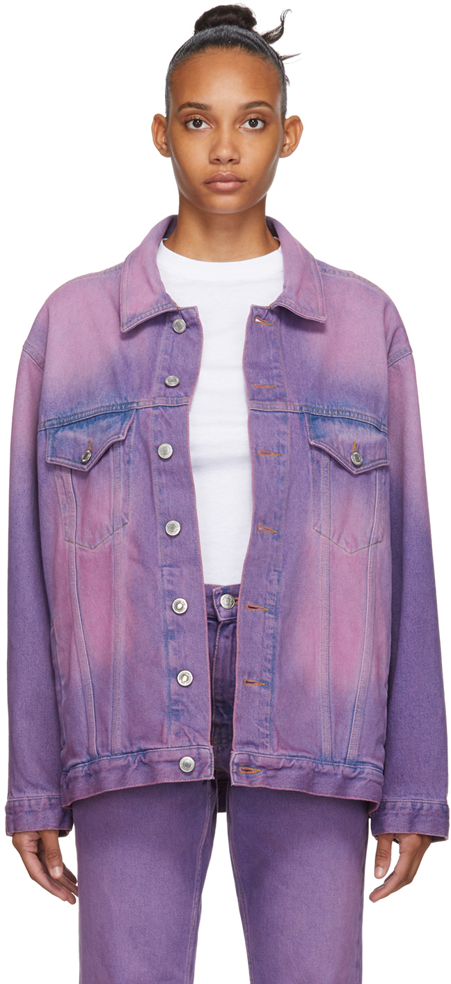Martine Rose Jackets Purple Oversized Denim Jacket