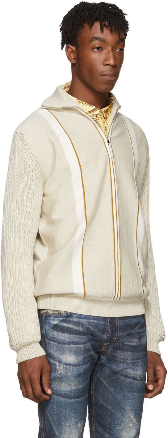 Martine Rose Sweaters Beige Custom Sweater