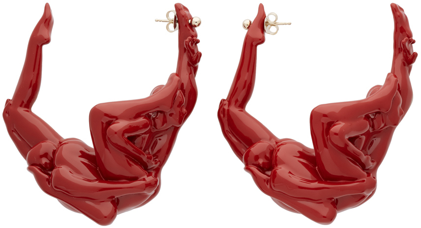 Y/project Accessories Red Kama Sutra Earrings