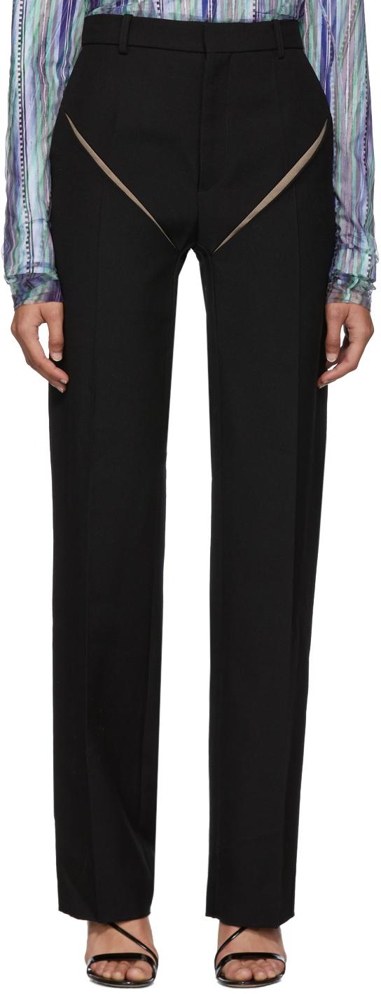 Y/project Pants Black Cut Out Trousers