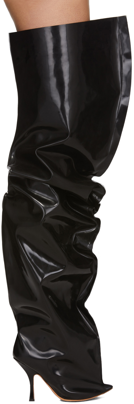 Y/project Boots Black Thigh High Boots