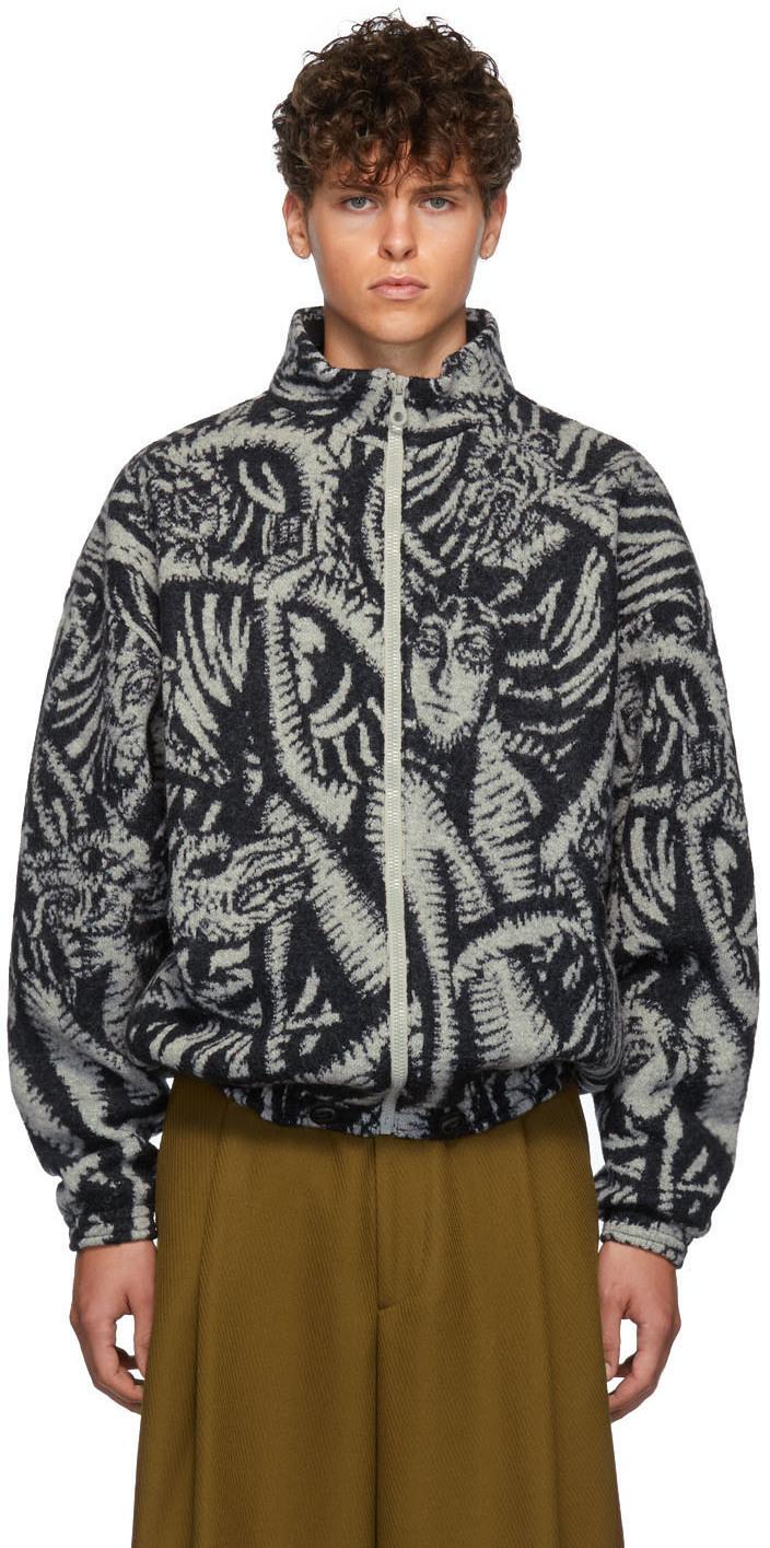 Y/project Jackets Grey & Black Knit Jacket