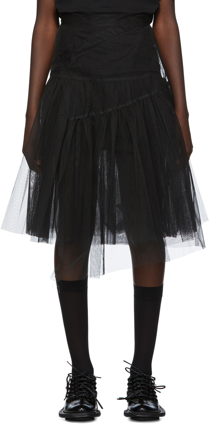 Shushu/tong Skirts Black Two-Layer Tulle Skirt