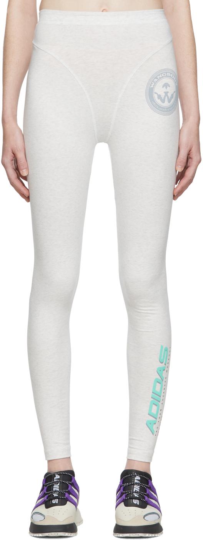 Adidas Originals By Alexander Wang Pants Grey Graphic 80's Leggings