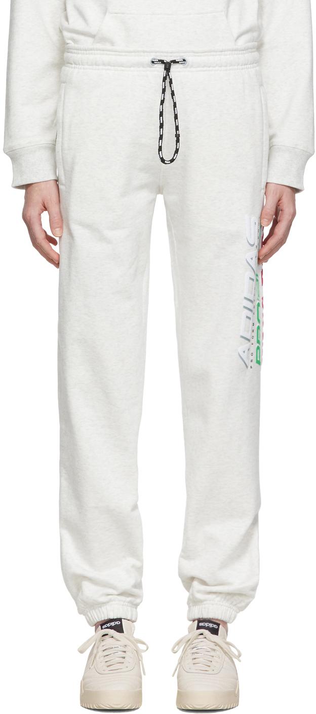 Adidas Originals By Alexander Wang Pants Grey Graphic Lounge Pants