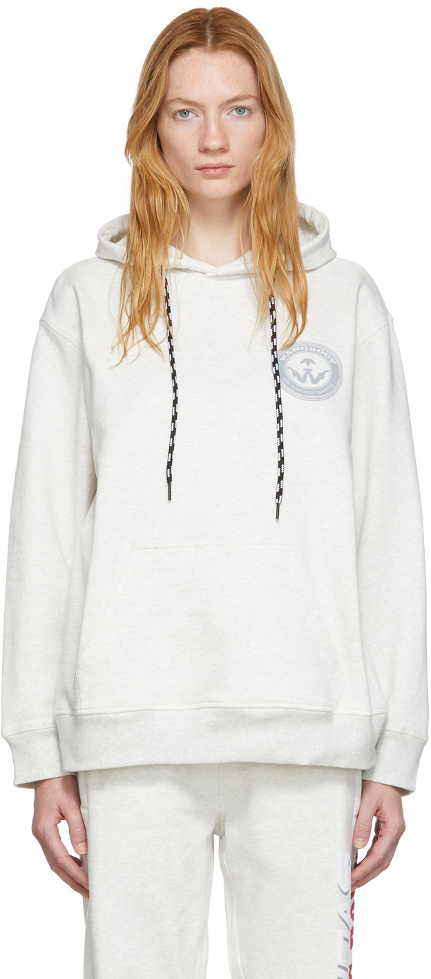 Adidas Originals By Alexander Wang Accessories Grey Graphic Hoodie