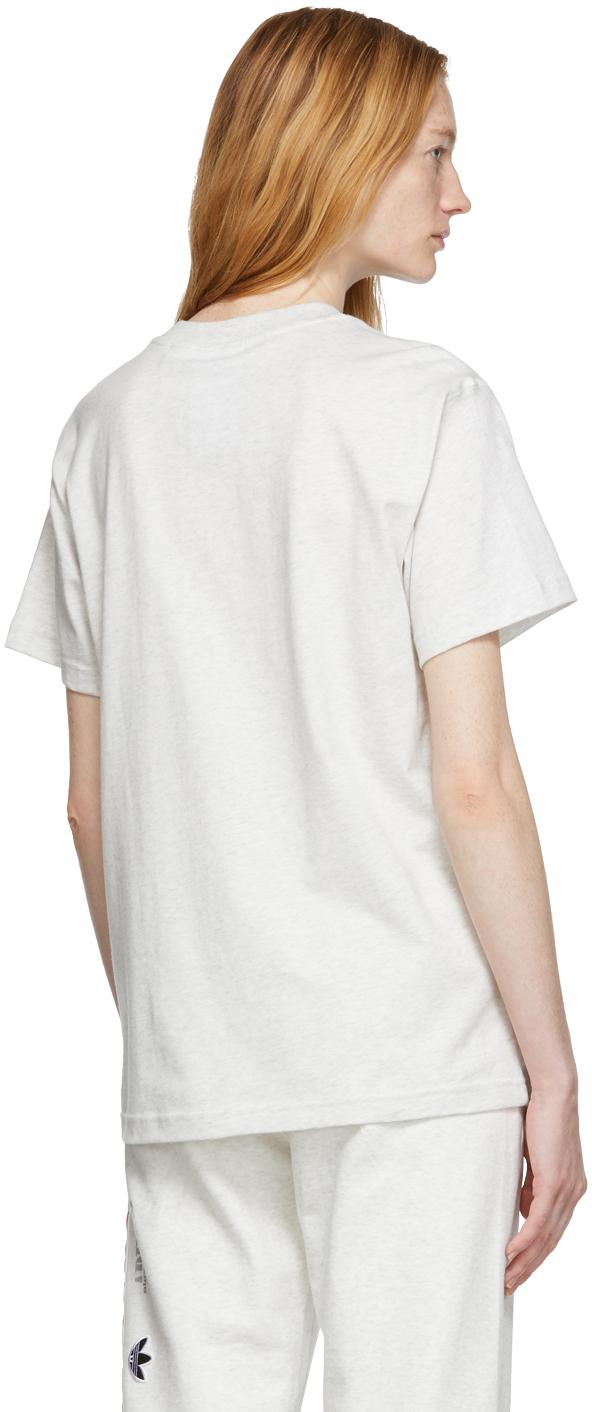 Adidas Originals By Alexander Wang T-shirts Grey Graphic T-Shirt