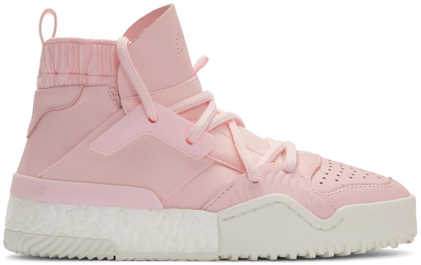 Adidas Originals By Alexander Wang Sneakers Pink B-Ball High-Top Sneakers