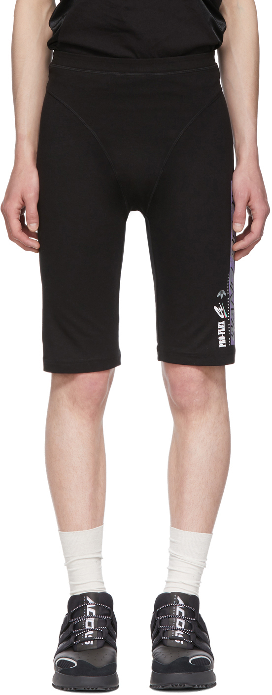 Adidas Originals By Alexander Wang Shorts Black Graphic 80's Shorts