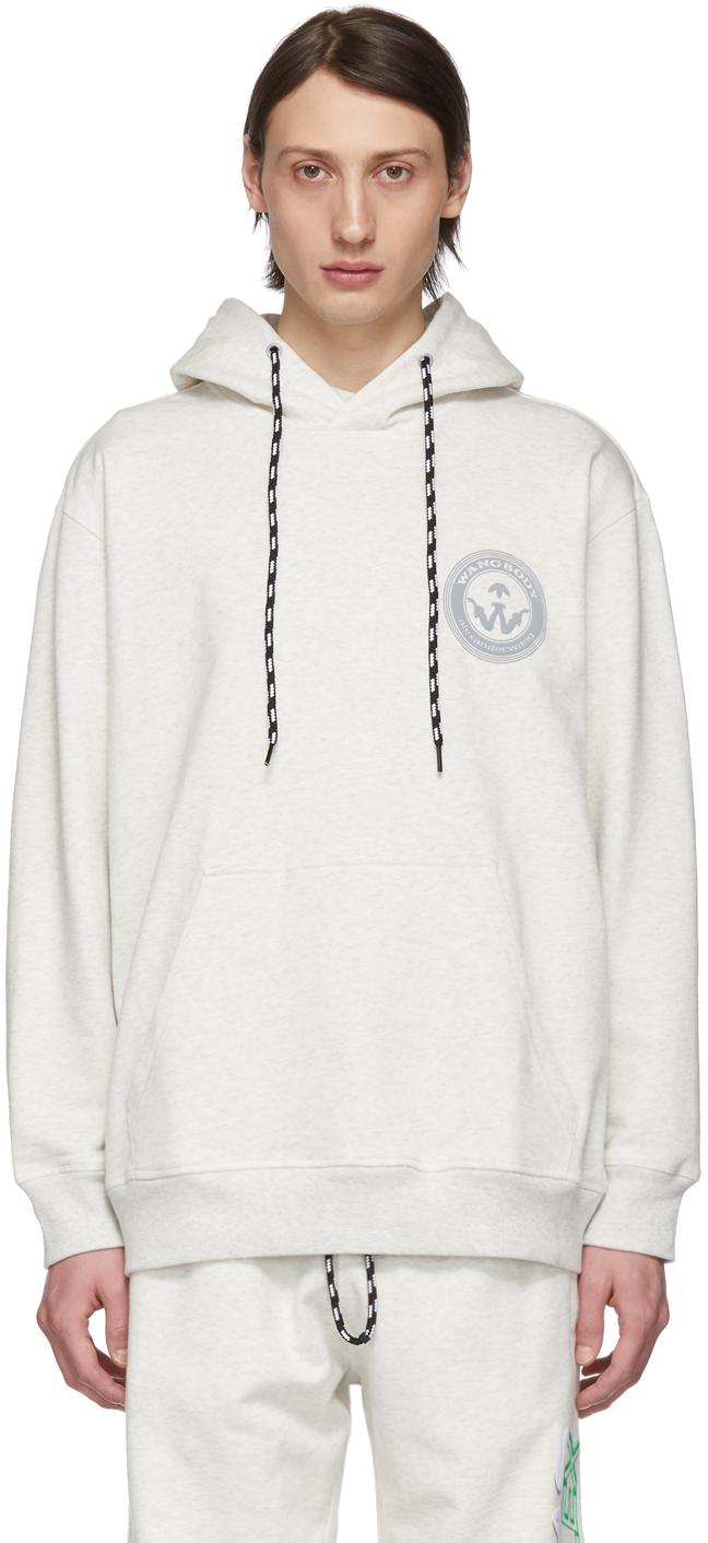 Adidas Originals By Alexander Wang Accessories Grey Graphic Hoodie