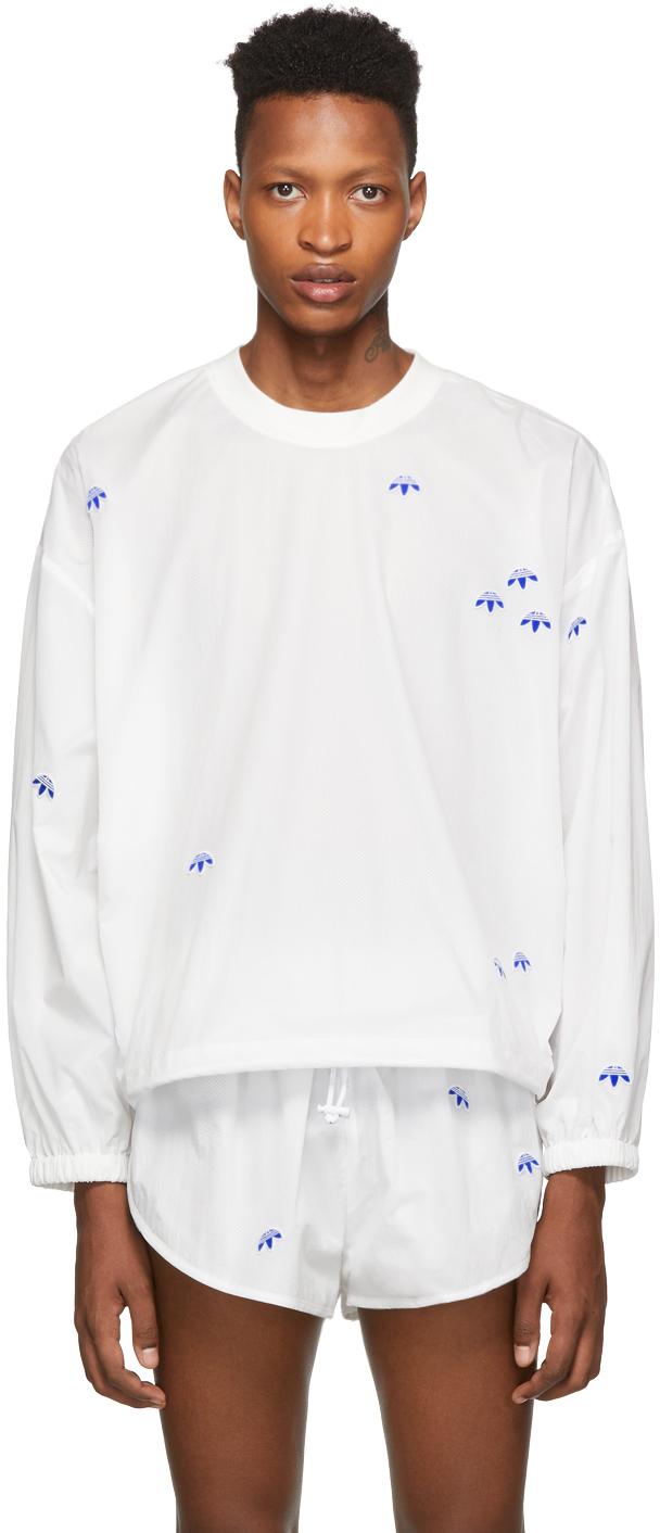 Adidas Originals By Alexander Wang T-shirts White AW Crew Sweatshirt