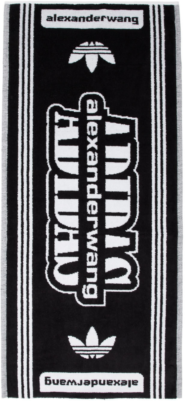 Adidas Originals By Alexander Wang Accessories Black & White Small Towel