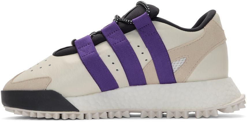 Adidas Originals By Alexander Wang Sneakers White & Purple Wangbody Run Sneakers