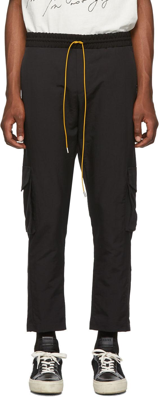 Rhude Pants SSENSE Exclusive Black Soho House Edition Cargo Pants