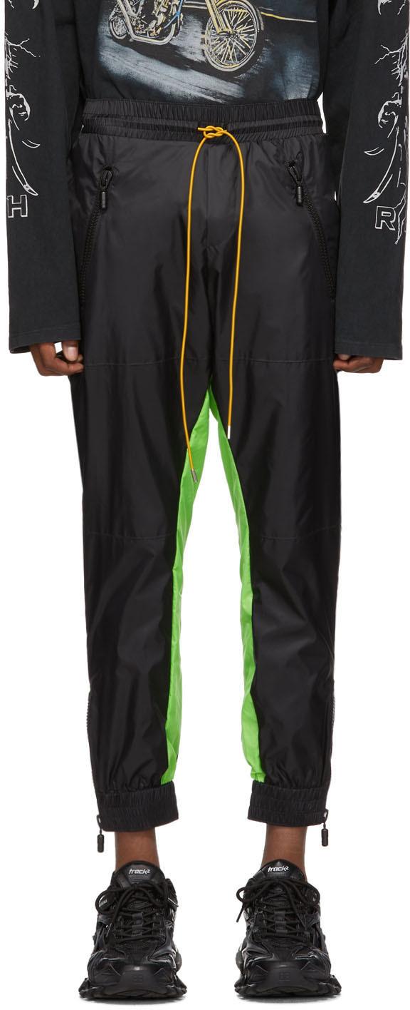 Rhude Suits Black & Green Flight Suit Track Pants