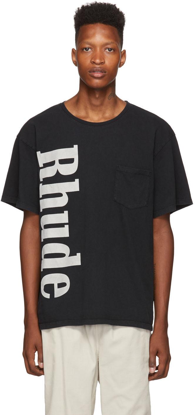 Rhude Tops Black Pocket T-Shirt