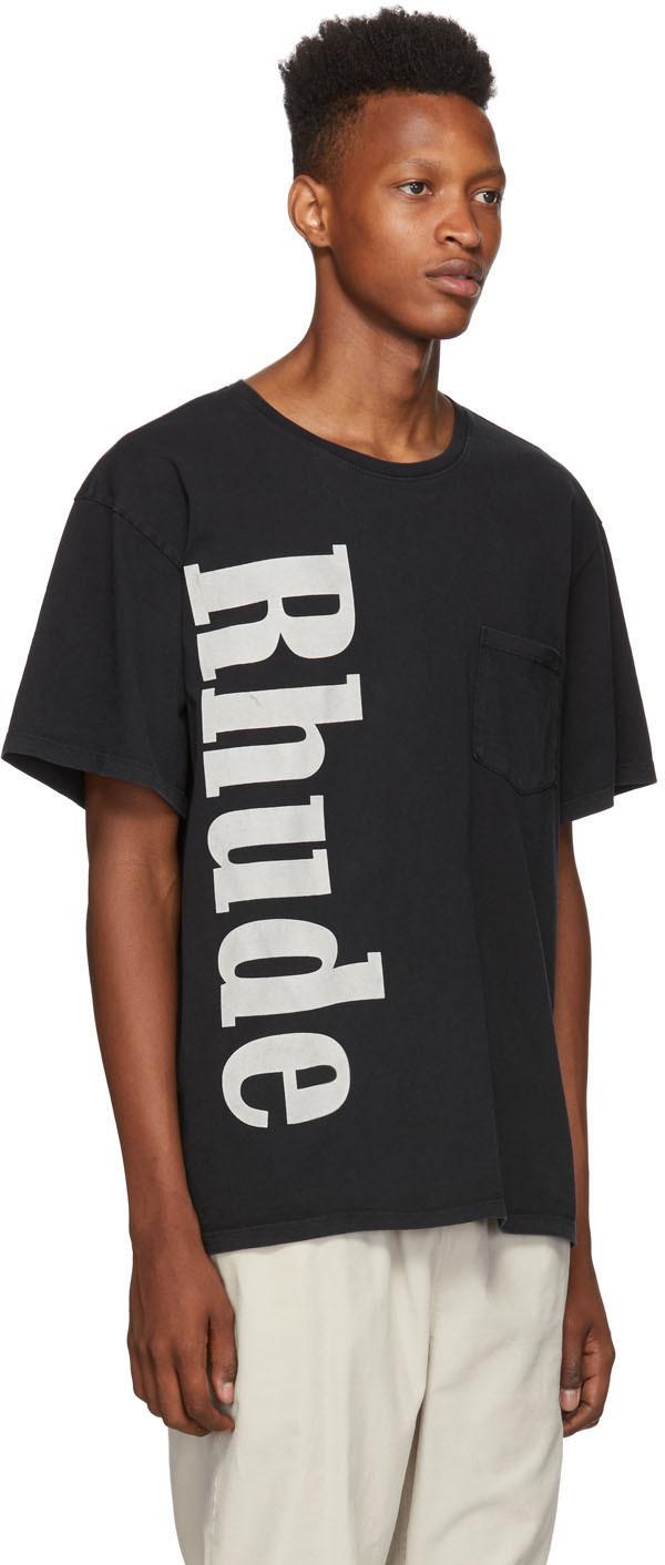 Rhude T-shirts Black Pocket T-Shirt