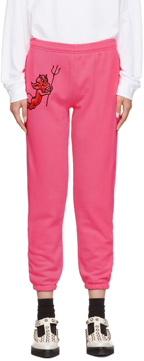 Ashley Williams Pants Pink Cherub Devil Jogger Lounge Pants