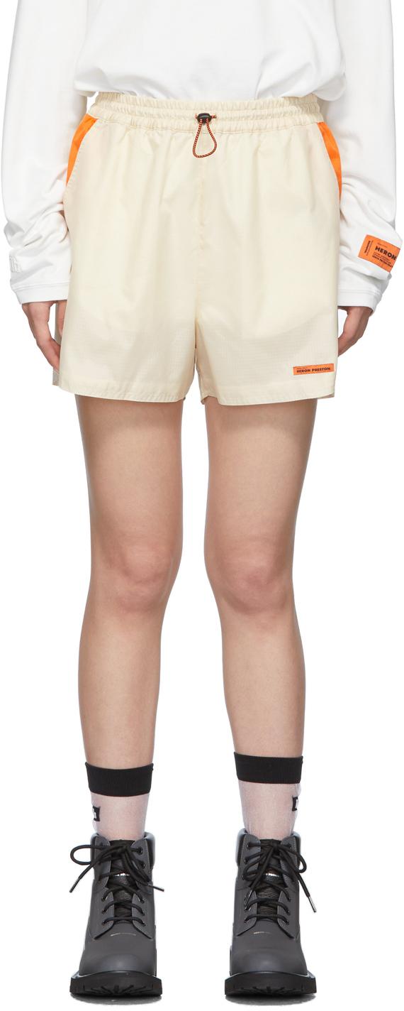 Heron Preston Shorts Beige Ripstop Shorts