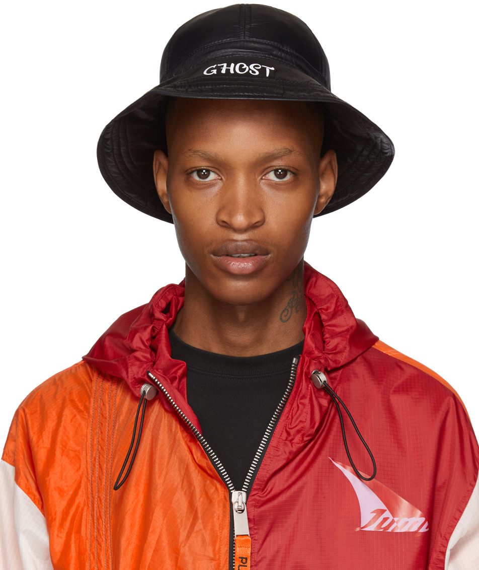 Heron Preston Hats Black 'Ghost' Fisherman Hat