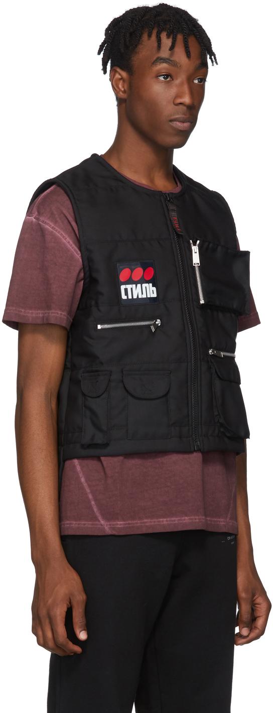 Heron Preston Accessories Black Multipocket 'Fire' Vest